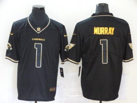 Men's Cardinals #1 Kyler Murray Black Golden Edition Vapor Limited Football Jersey