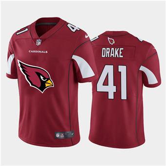 Men's Cardinals #41 Kenyan Drake Red Football Team Big Logo Fashion Vapor Limited Jersey
