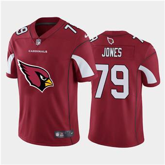 Men's Cardinals #79 Josh Jones Red Football Team Big Logo Fashion Vapor Limited Jersey