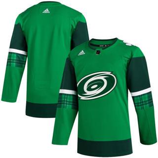 Men's Carolina Hurricanes Blank 2020 St. Patrick's Day Stitched Hockey Jersey Green