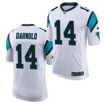 Men's Carolina Panthers #14 Sam Darnold White Vapor Untouchable Limited Stitched Football Jersey