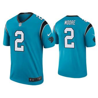 Men's Carolina Panthers #2 D.J Moore Blue Vapor Untouchable Limited Stitched Jersey