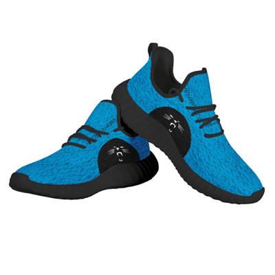 Men's Carolina Panthers Mesh Knit Sneakers 1
