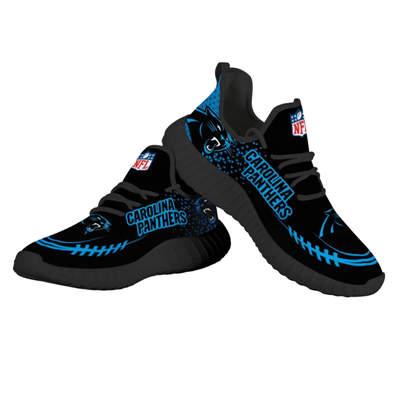 Men's Carolina Panthers Mesh Knit Sneakers 2