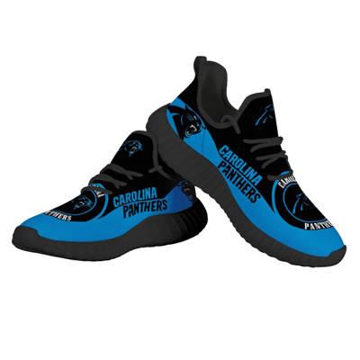 Men's Carolina Panthers Mesh Knit Sneakers 3