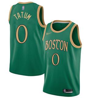Men's Celtics #0 Jayson Tatum Green Basketball Swingman City Edition 2019-2020 Jersey