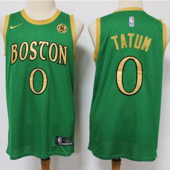 Men's Celtics #0 Jayson Tatum Green New 2019-2020 City Edition Swingman Basketball Jersey