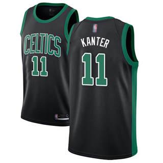 Men's Celtics #11 Enes Kanter Black Basketball Swingman Statement Edition Jersey