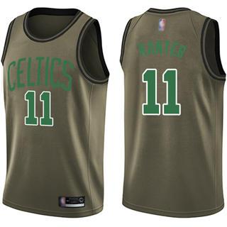 Men's Celtics #11 Enes Kanter Green Salute to Service Basketball Swingman Jersey