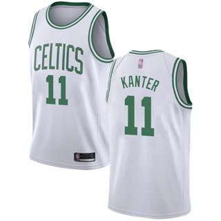 Men's Celtics #11 Enes Kanter White Basketball Swingman Association Edition Jersey
