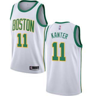 Men's Celtics #11 Enes Kanter White Basketball Swingman City Edition 2018-19 Jersey