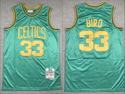 Men's Celtics #33 Larry Bird Green 1985-86 Hardwood Classics Swingman Jersey