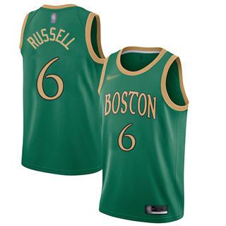 Men's Celtics #6 Bill Russell Green Basketball Swingman City Edition 2019-2020 Jersey