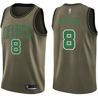 Men's Celtics #8 Kemba Walker Green Salute to Service Basketball Swingman Jersey