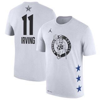 Men's Celtics 11 Kyrie Irving White 2019 Basketball All-Star Game T-Shirt