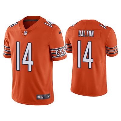 Men's Chicago Bears #14 Andy Dalton Orange Vapor Untouchable Limited Stitched Football Jersey