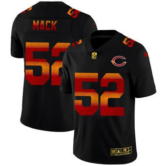 Men's Chicago Bears #52 Khalil Mack Black Red Orange Stripe Vapor Limited Football Jersey