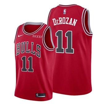 Men's Chicago Bulls #11 DeMar DeRozan Red Stitched Basketball Jersey