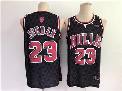 Men's Chicago Bulls #23 Michael Jordan Black Stitched Basketball Jersey