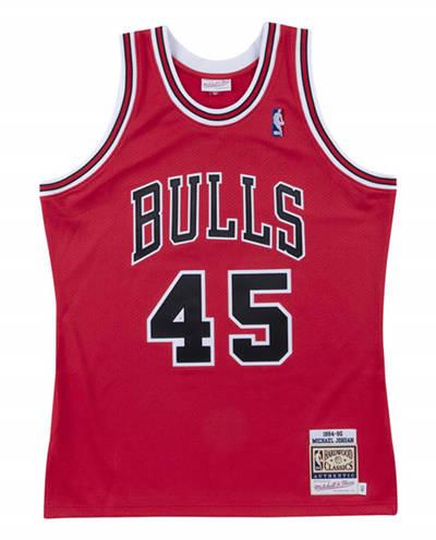 Men's Chicago Bulls #45 Michael Jordan Red Stitched Basketball Jersey