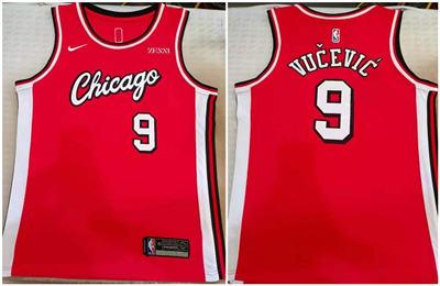 Men's Chicago Bulls #9 Nikola Vucevic Red Stitched Basketball Jersey