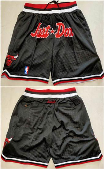 Men's Chicago Bulls Black Mitchell&Ness Basketball Shorts (Run Small)