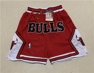 Men's Chicago Bulls Hardwood Classics Stitched Basketball Short 1