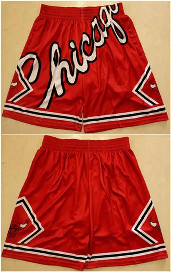 Men's Chicago Bulls Red Mitchell&Ness Basketball Shorts (Run Small)
