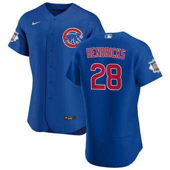 Men's Chicago Cubs #28 Kyle Hendricks Royal Alternate 2020 Authentic Player Baseball Jersey