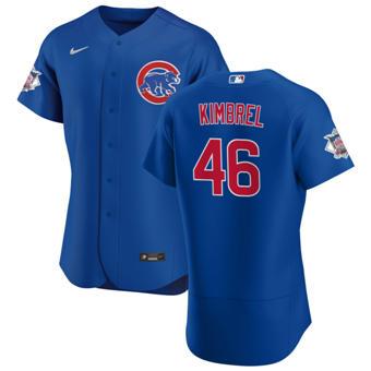 Men's Chicago Cubs #46 Craig Kimbrel Royal Alternate 2020 Authentic Player Baseball Jersey