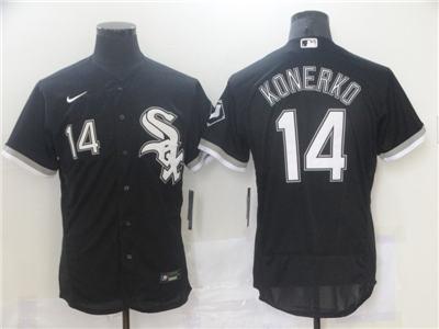 Men's Chicago White Sox #14 Paul Konerko Black Flex Base Stitched Baseball Jersey