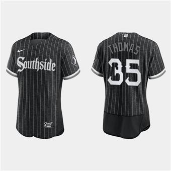 Men's Chicago White Sox #35 Frank Thomas 2021 City Connect Flex Base Stitched Baseball Jersey