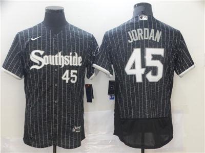 Men's Chicago White Sox #45 Michael Jordan Black 2021 City Connect Replica Flex Base Stitched Baseball Jersey