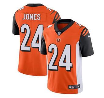 Men's Cincinnati Bengals #24 Adam Jones Orange Vapor Stitched Limited Jersey