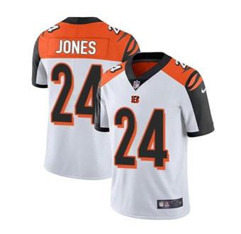 Men's Cincinnati Bengals #24 Adam Jones Vapor White Stitched Limited Jersey