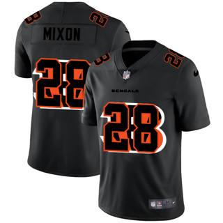 Men's Cincinnati Bengals #28 Joe Mixon Team Logo Dual Overlap Limited Football Jersey Black