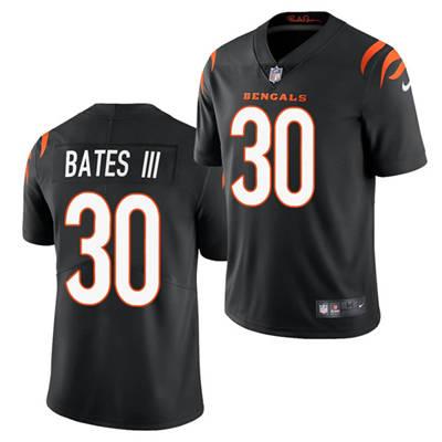 Men's Cincinnati Bengals #30 Jessie Bates III 2021 Black Vapor Untouchable Limited Stitched Football Jersey