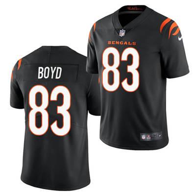 Men's Cincinnati Bengals #83 Tyler Boyd 2021 Black Vapor Untouchable Limited Stitched Football Jersey