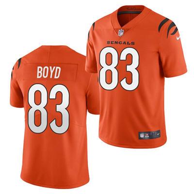 Men's Cincinnati Bengals #83 Tyler Boyd 2021 Orange Vapor Untouchable Limited Stitched Football Jersey
