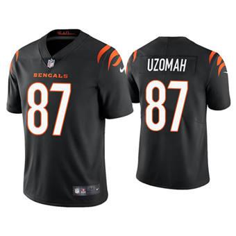 Men's Cincinnati Bengals #87 C.J. Uzomah 2021 New Black Vapor Untouchable Limited Stitched Football Jersey