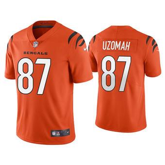 Men's Cincinnati Bengals #87 C.J. Uzomah 2021 New Orange Vapor Untouchable Limited Stitched Football Jersey
