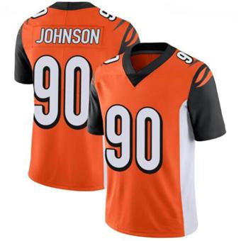 Men's Cincinnati Bengals #90 Michael Johnson Orange Vapor Stitched Football Jersey