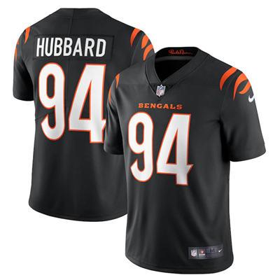 Men's Cincinnati Bengals #94 Sam Hubbard 2021 Black Vapor Untouchable Limited Stitched Football Jersey