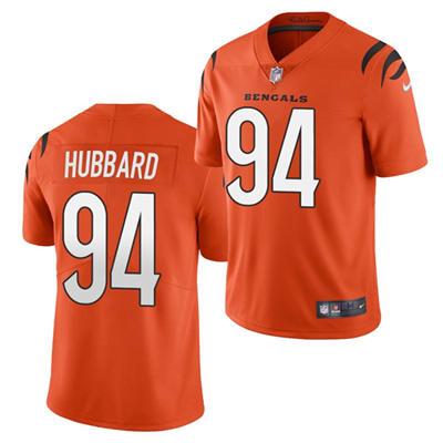 Men's Cincinnati Bengals #94 Sam Hubbard 2021 Orange Vapor Untouchable Limited Stitched Football Jersey