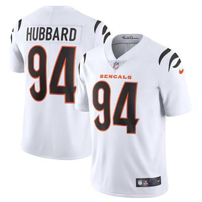 Men's Cincinnati Bengals #94 Sam Hubbard 2021 White Vapor Untouchable Limited Stitched Football Jersey