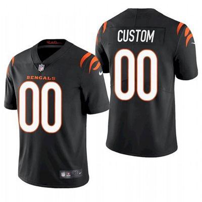 Men's Cincinnati Bengals ACTIVE PLAYER Custom 2021 New Black Vapor Untouchable Limited Stitched Football Jersey