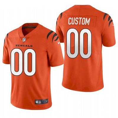 Men's Cincinnati Bengals ACTIVE PLAYER Custom 2021 New Orange Vapor Untouchable Limited Stitched Football Jersey