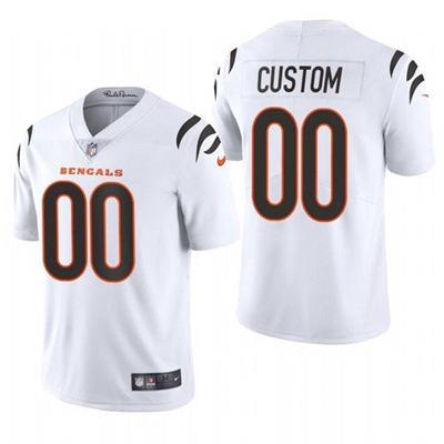 Men's Cincinnati Bengals ACTIVE PLAYER Custom 2021 New White Vapor Untouchable Limited Stitched Football Jersey
