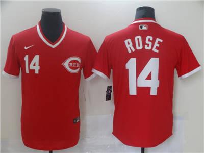 Men's Cincinnati Reds #14 Pete Rose Red Cool Base Stitched Baseball Jersey
