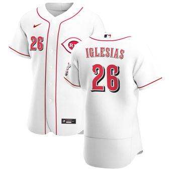 Men's Cincinnati Reds #26 Raisel Iglesias White Home 2020 Authentic Player Baseball Jersey